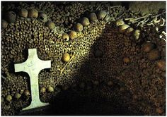 Prior to 1810 the Paris catacombs were known as Paris' Montrouge stone quarries. As with any large city graveyards began to quickly run out of burial space thus an alternative means of disposing of bodies was necessary.