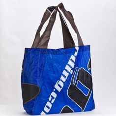 one-of-a-kind tote handmade to order from reused or reclaimed  kiteboarding sails