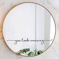 11 Inexpensive Bathroom Decor Items That You Should Buy Mirror Decal, Mirror Stickers, Mirror Painting, Mirror Art, Bathroom Decals, Wall Decals, Best Bathroom Designs, Aesthetic Room Decor, Room Decor Bedroom