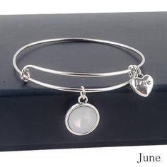 June Amethyst Birthstone Charm