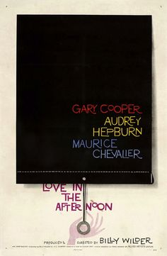 Saul Bass #movie #poster for Love in the afternoon