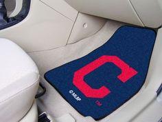"MLB - Cleveland Indians ""Block-C"" 2-piece Carpeted Car Mats 17""x27"""