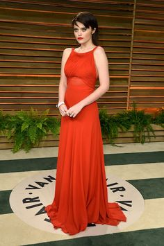 2014 Vanity Fair Oscar Party Hosted By Graydon Carter - Arrivals --> Looks just like the Alaia Rihanna wore to the Grammys