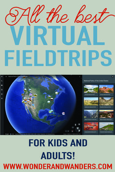 Travel Without Leaving Your Couch! Take these Virtual Tours! - Travel Without Leaving Your Couch! Take these Virtual Tours! – Wonder and Wanders – Virtual Fieldtrips, Online tours & Virtual travel! Home Learning, Learning Activities, Activities For Kids, Virtual Travel, Virtual Tour, Virtual Field Trips, Apps, Home Schooling, Kids Education