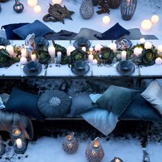 we love Broste Copenhagen//The Nordic Way of Life  and this divine Christmas outdoor styling sun or snow
