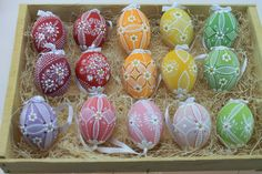 Traditional Hand painted Madeira Easter Eggs  15 piece by czechegg