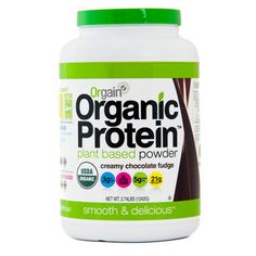 Orgain Organic Chocolate Protein Powder - Dairy Free, Soy Free, Gluten Free, Lactose Free, Non-GMO | Costco carries it!!