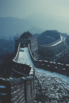 The Great Wall of China after fresh snow by Jiamin Zhu