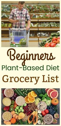 Beginners Guide to Plant-Based Grocery Shopping Starting a new way of life and health is like beginning a journey, so it's helpful to have a map. This is a new adventure to a whole food plant based diet, and I was completely unprepared for all the changes Plant Based Foods List, Plant Based Diet Meals, Plant Based Meal Planning, Plant Diet, Plant Based Whole Foods, Plant Based Eating, Plant Based Recipes, Raw Food Recipes, Food52 Recipes