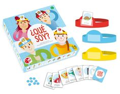 illustration of cards and box design // Juego Que Soy - Juguetería - Infantil - Casaideas