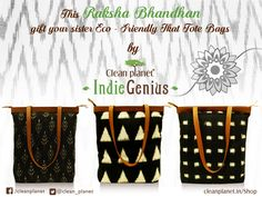 Happy Raksha Bandhan Gift your Sister Ikat Tote Bags by Clean Planet Indiegenius Get the product here:http://bit.ly/2bFKusE