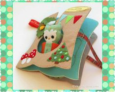 Christmas Style Quiet Book Activity Book Busy Book Felt