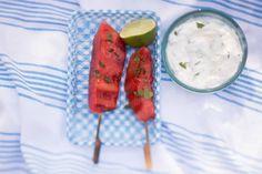Grilled Watermelon, Skewers, Barista, Sprinkles, Goodies, Ethnic Recipes, June, Food, Sweet Like Candy