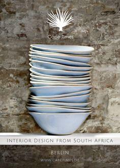 www.capetimes.de Handmade Pottery, South Africa, Interior Design, Tableware, Nest Design, Dinnerware, Home Interior Design, Interior Designing, Tablewares