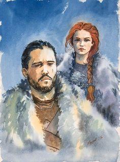 Jon and Sansa by Dante6686