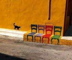 5 sillas al sol