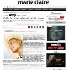 Los consejos de la fundadora de #SileaCosmetics en la revista #MarieClaire sobre protección solar  #prensa #media #medios #comunicacion #proteccion #sol #piel #verano