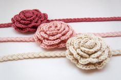 Crocheted headbands I really want to learn how to make these!