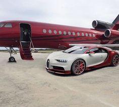 Bugatti Chiron that matches your private jet
