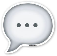 Speech Balloon | Emoji Stickers