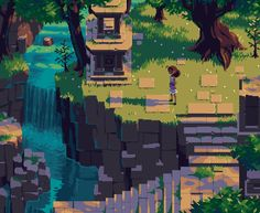 Piskel Art, Map Art, Environment Concept Art, Environment Design, Pixel Art Background, 2d Game Background, 2d Game Art, 8bit Art, Isometric Art