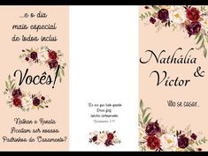 Marsala, Place Cards, Place Card Holders, Floral, Wedding, Groomsmen, Ticket Invitation, Valentines Day Weddings, Manualidades