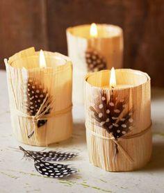 déco automne avec bougies