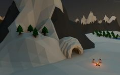 It's getting cold! #Polygon #Lowpoly
