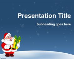 Christmas Template for PowerPoint is another Christian Background for PowerPoint presentations with Santa Claus image in the slide design