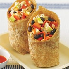 Black Bean, Avocado, Brown Rice, and Chicken Wrap Recipe. Healthy, tasty, and portable; a trifecta of college food!