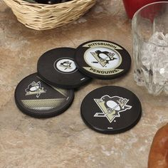 Pittsburgh Penguins 4-Pack Puck Coaster Set - $19.99