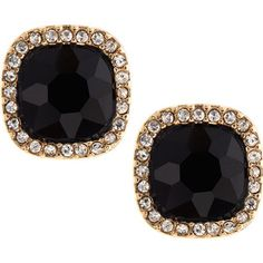 Fragments Cushion-Cut Pave Stud Earrings