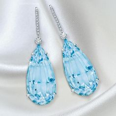 Martin Katz (over Aquamarine and Diamond Earrings in the perfect shade of blue. Accessorize Fashion, Diamond Earrings, Stud Earrings, Types Of Earrings, Crown Jewels, Luxury Jewelry, Fine Jewelry, Wedding Rings, Pendant Necklace
