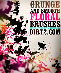 Floral Photoshop Brushes by ~KeepWaiting on deviantART (download button is mid-way down the sidebar)-- For Personal Use