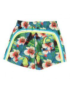 Shops, Tropical Birds, Hawaiian Print, Swim Shorts, Elastic Waist, Swimwear, Cords, 4 Years, Cambodia