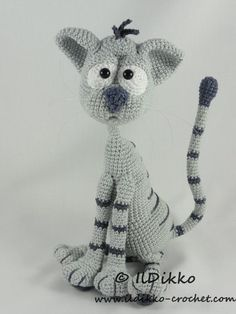 Looking for your next project? You're going to love Kit the Cat - Amigurumi Pattern by designer IlDikko. - via @Craftsy