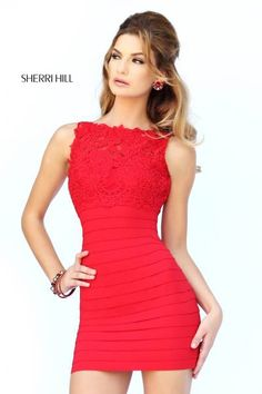 This short red Sherri Hill Cocktail dress is so cute for a party !  Homecoming Dresses 8c550a81f941