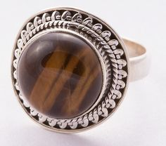 925 Sterling Silver Tiger Eye Ring MCR-4010 from Edelsteinschmuck by DaWanda.com