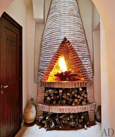 Moroccan design awesome fireplace