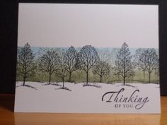 I buy just about every barren tree stamp I can find.  Now I can use them to make this card.