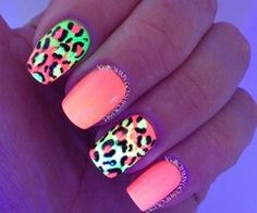 Neon glow in the dark nails