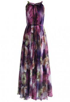 Mysterious Purple Floral Maxi Slip Dress - DRESS - Retro, Indie and Unique Fashion Modest Dresses, Cute Dresses, Casual Dresses, Maxi Dresses, Party Dresses, Floral Chiffon Maxi Dress, Floral Dresses, Stylish Dress Designs, One Piece Dress