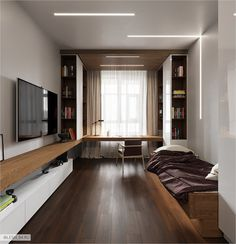 Riverside – Home Office Design Layout Home Office Setup, Guest Room Office, Home Office Space, Home Office Design, House Design, Apartment Interior, Room Interior, Interior Design Living Room, Modern Bedroom Design