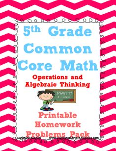 Common Core Math Operations and Algebraic Thinking. Over 100 problems WITH ANSWER KEYS perfect for spiral review, morning work, homework and more!!