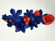 Decor new year. Paper flowers