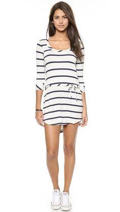 Stripe drape back dress.. looks so cute with white converse