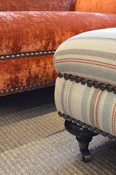 Detail of Wordsworth sofa and Wordsworth foostool.  www.jamesbrindley.com for more details.