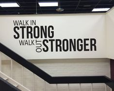 Gym Fitness Wall decal, Health Club Decor, Hotel Fitness Center, Walk In Strong Walk Out Stronger - Sport - Fitness Workout Plan Gym, Band Workout, Ab Workout At Home, Workout Rooms, No Equipment Workout, Fitness Equipment, Fitness Workouts, Sport Fitness, Fitness Models