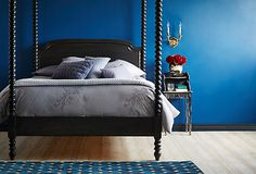 One Kings Lane - All About the Bed - Andrew's Canopy Bed, Black Walnut