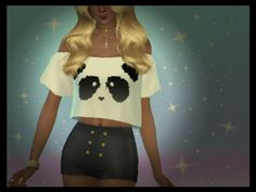 TSR : SinfulSimmer's Panda Crop Top (Mesh Needed).